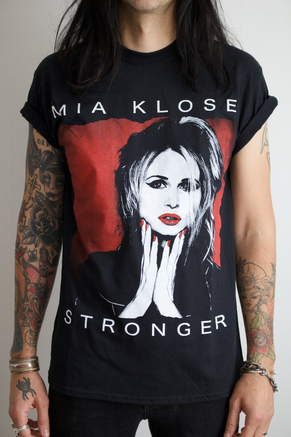 Image of Mia Klose Unisex T-Shirt - STRONGER - Black