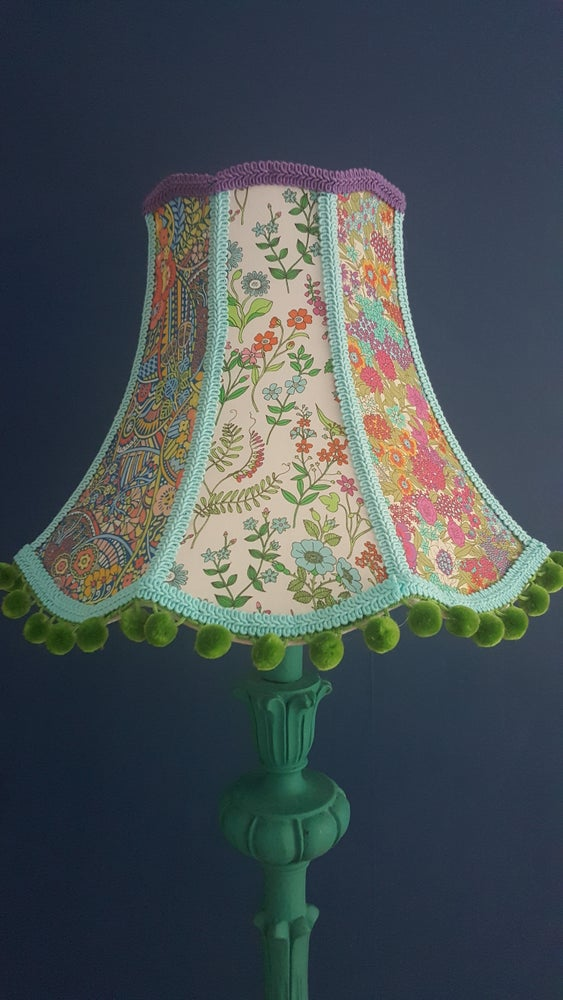 Image Of Colourful Traditional Victorian Style Lampshade