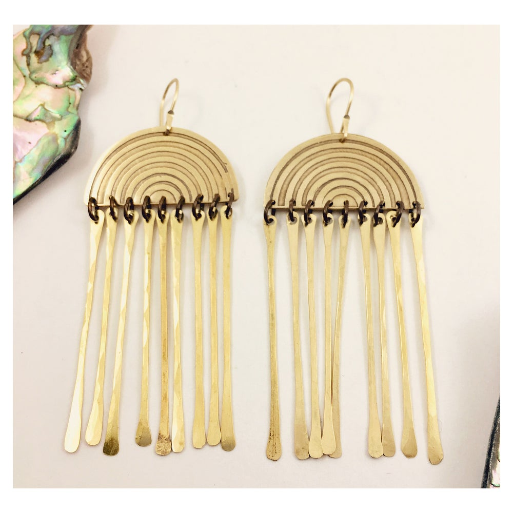 Image of Rainbow Tassel Earrings