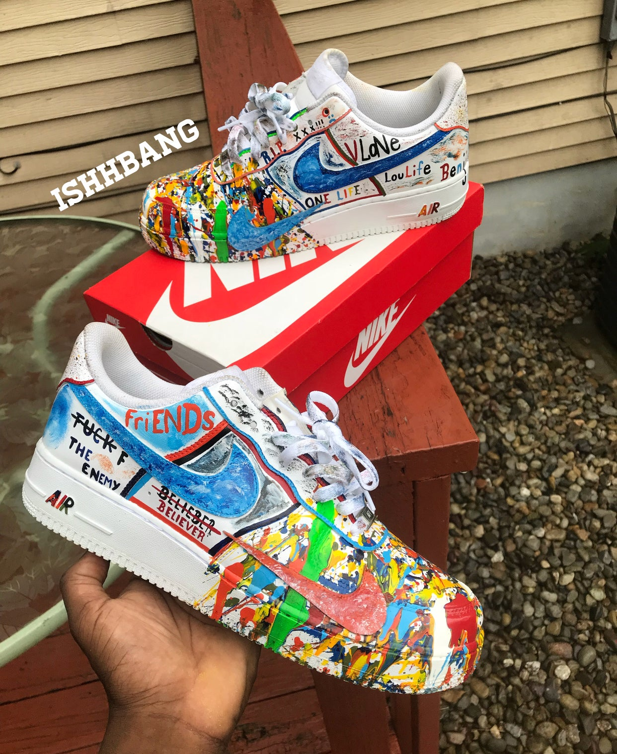 """promo code 888a2 c4a4f Custom Low Nike Sign """"VLone Inspired"""" AF1s Freestyle"""