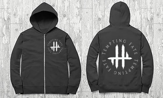Image of Tempting Fate Circle zip-up Hoodie
