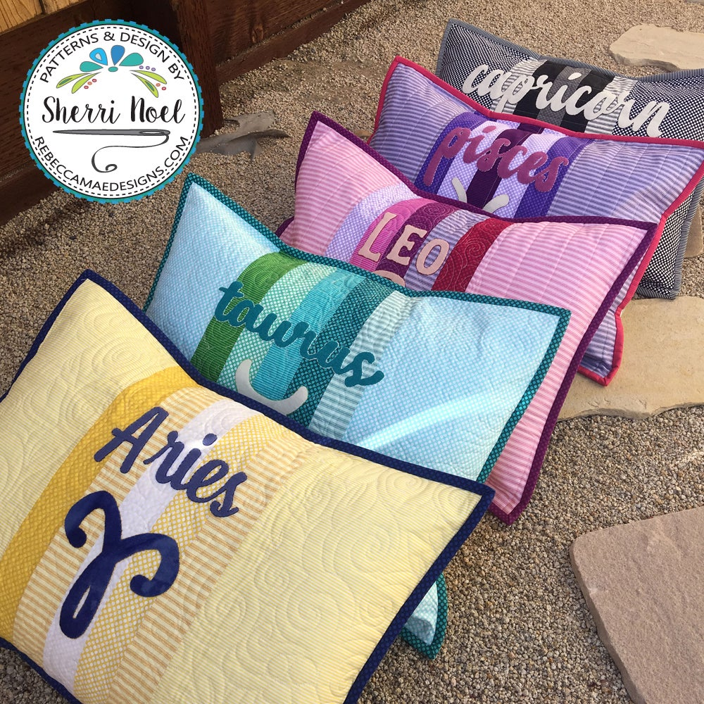 Image of Zodiac - Quilted Pillow Sham