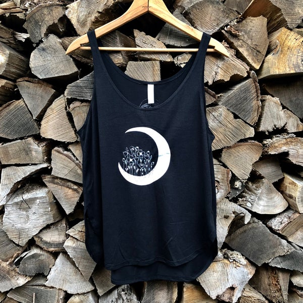 Image of Poppy Moon - Women's flowy side slit tank