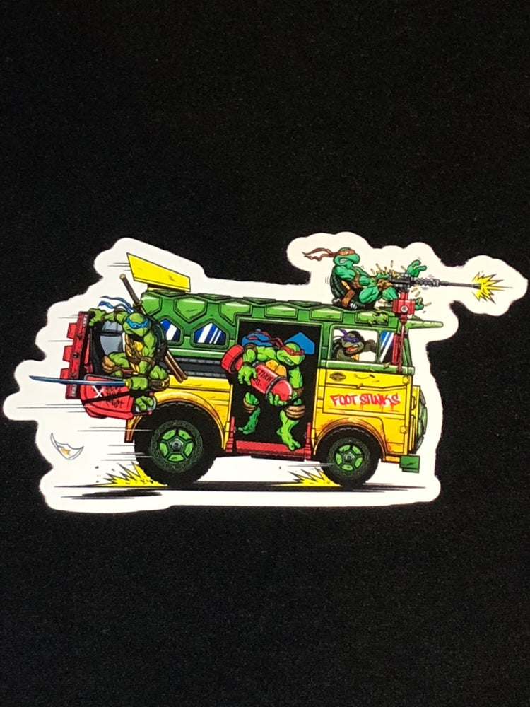 Image of TMNT VAN Premium Vinyl Sticker