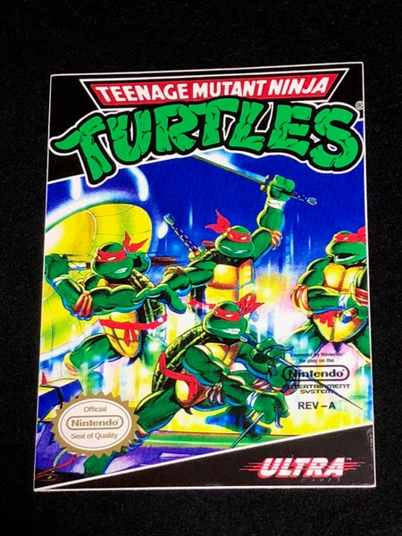 Image of TMNT NES Cover Premium Vinyl Sticker