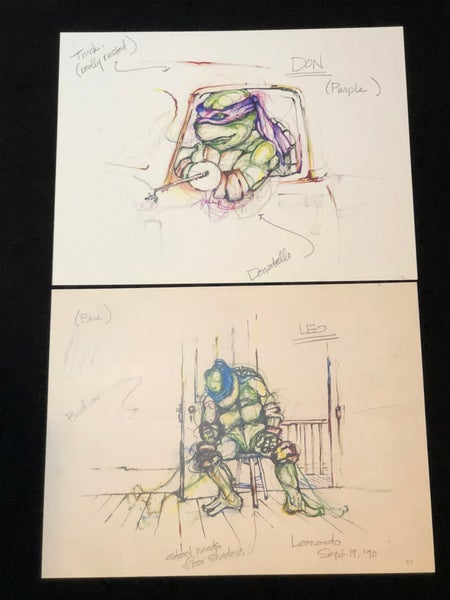 Image of Leonardo / Donatello Movie Sketch