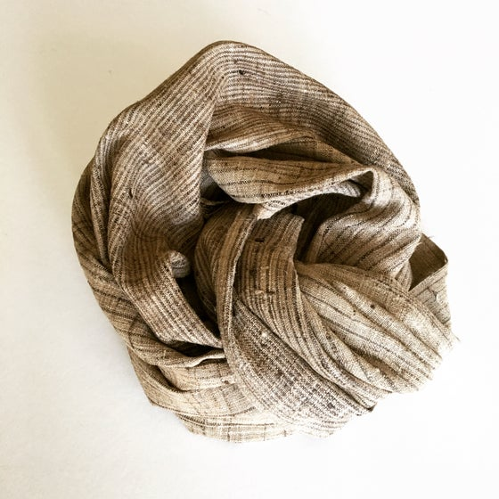 Image of SHADOW STRIPE SCARF - NATURAL