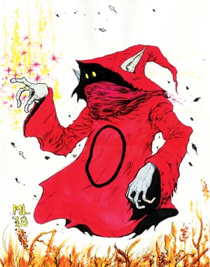Image of GLOW IN THE DARK ORKO original painting