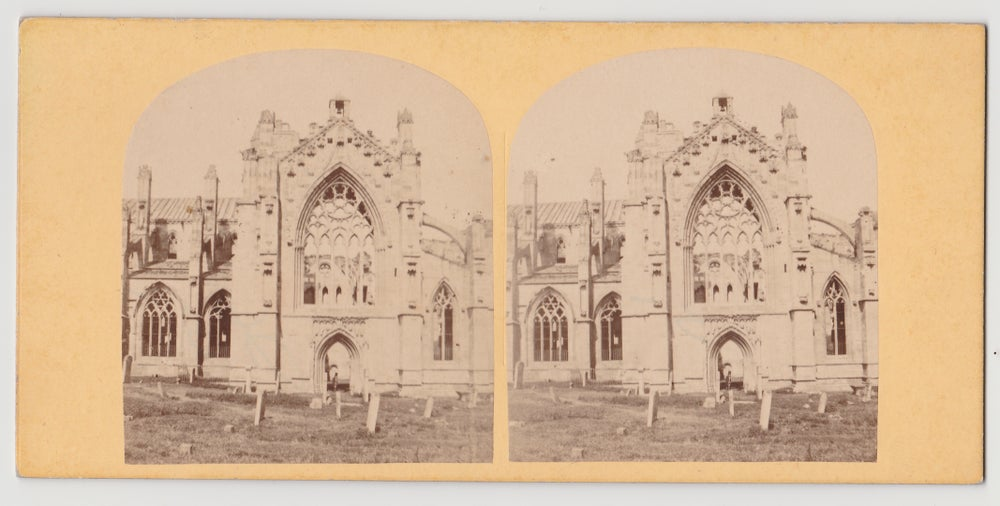 Image of Roger Fenton: stereo of Melrose Abbey (S. W. View), ca. 1856