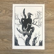 Image of VULTURE - Becky Cloonan *Woodblock Print*