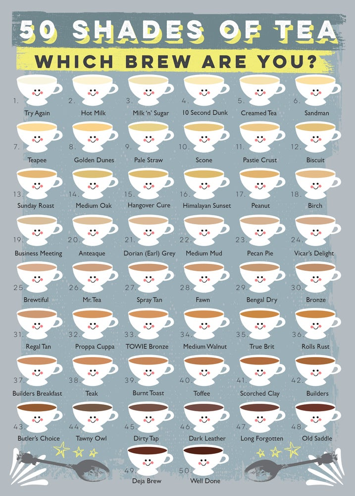 Image of '50 Shades of Tea' Print