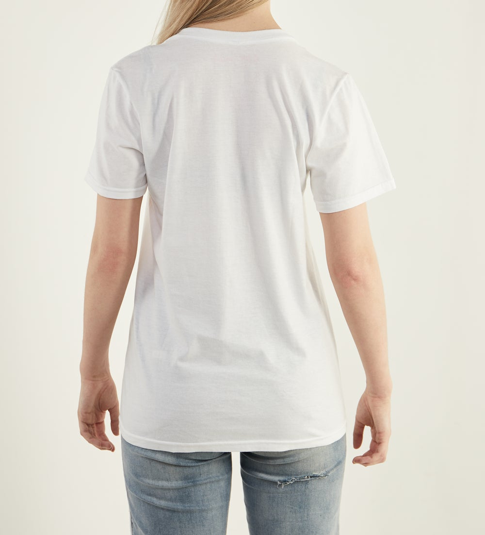 Image of Free The Nips T Shirt WHITE