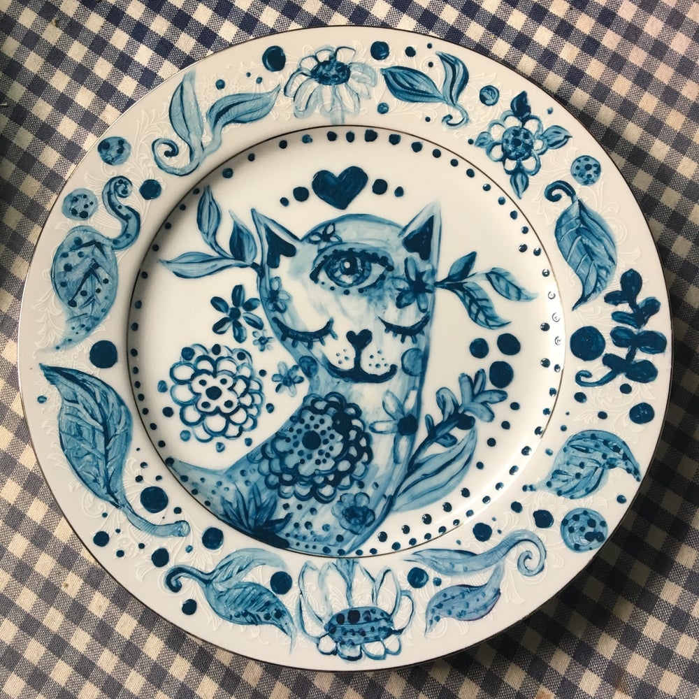 Image of Ultramarine Dream Series Cat Dish 1