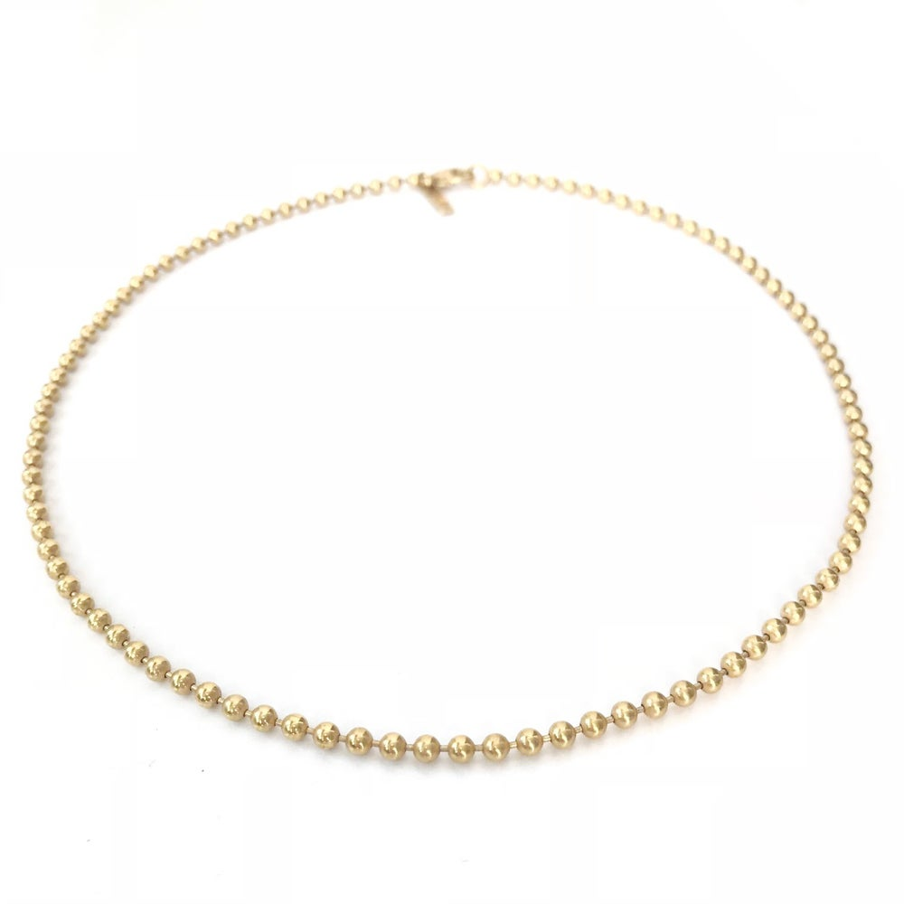 Image of 18K gold vermeil beaded choker