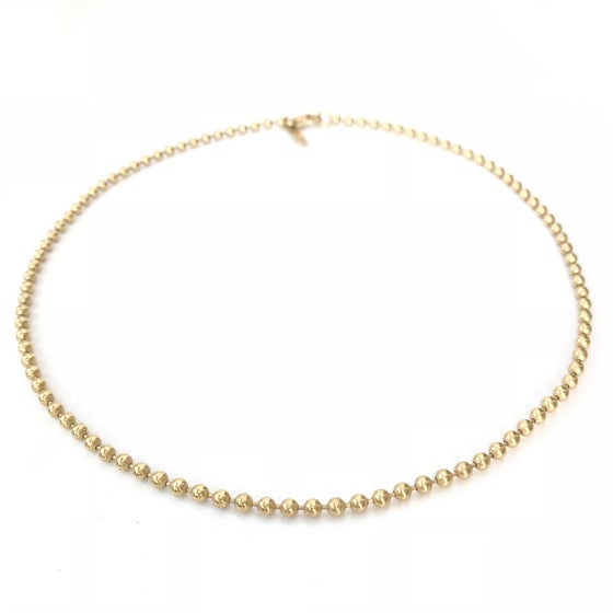 Image of 18K gold plated beaded choker