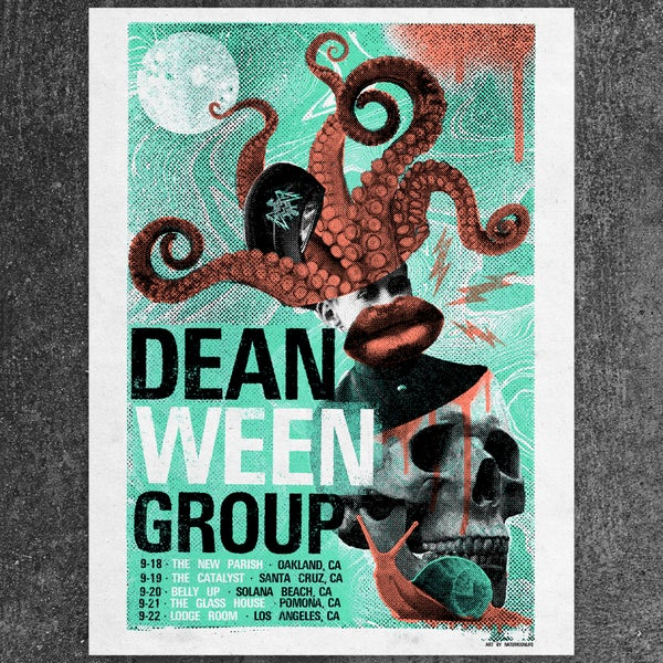 "Image of Dean Ween Group • 18""x24"" Screen Print - California 2018"