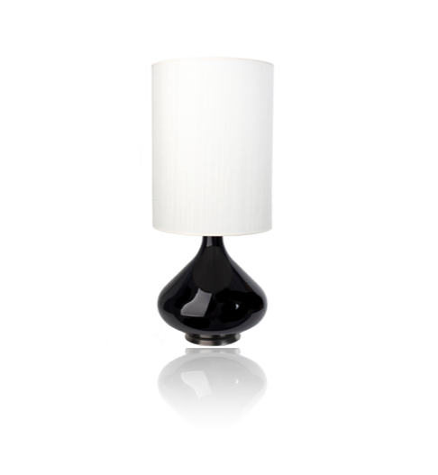 Image of  Flavia Table Lamp with White Silk Shade