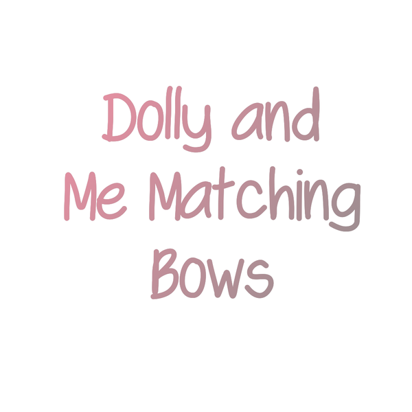Image of Dolly And Me Matching Bows