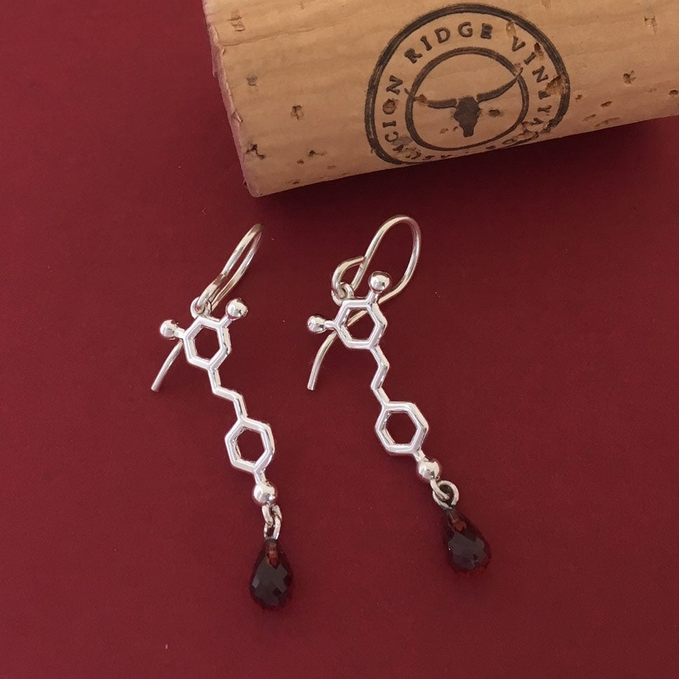 Image of resveratrol earrings