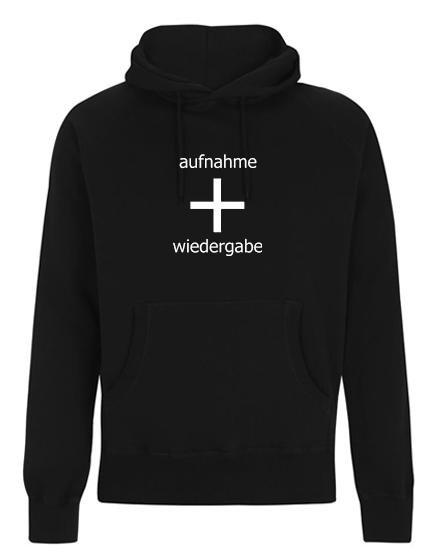 Image of aufnahme + wiedergabe Logo Hoodie