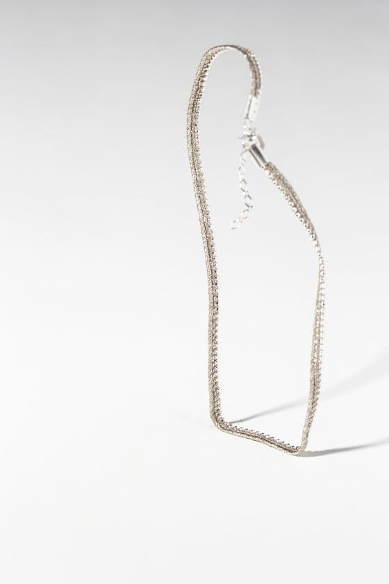 Image of Bracelet deux tours argent 925