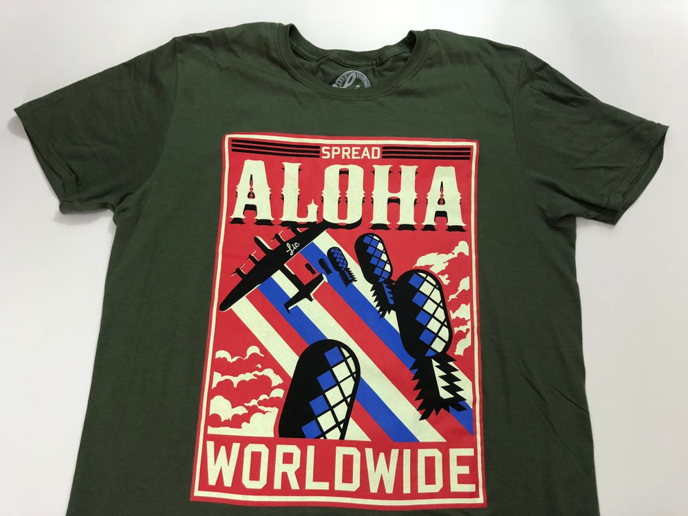 Image of Spread Aloha Worldwide- Military Green