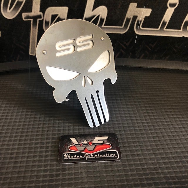"Image of SS Punisher Hitch Cover - Two Layer - 1/8"" Steel - Super Sport Silverado TBSS"