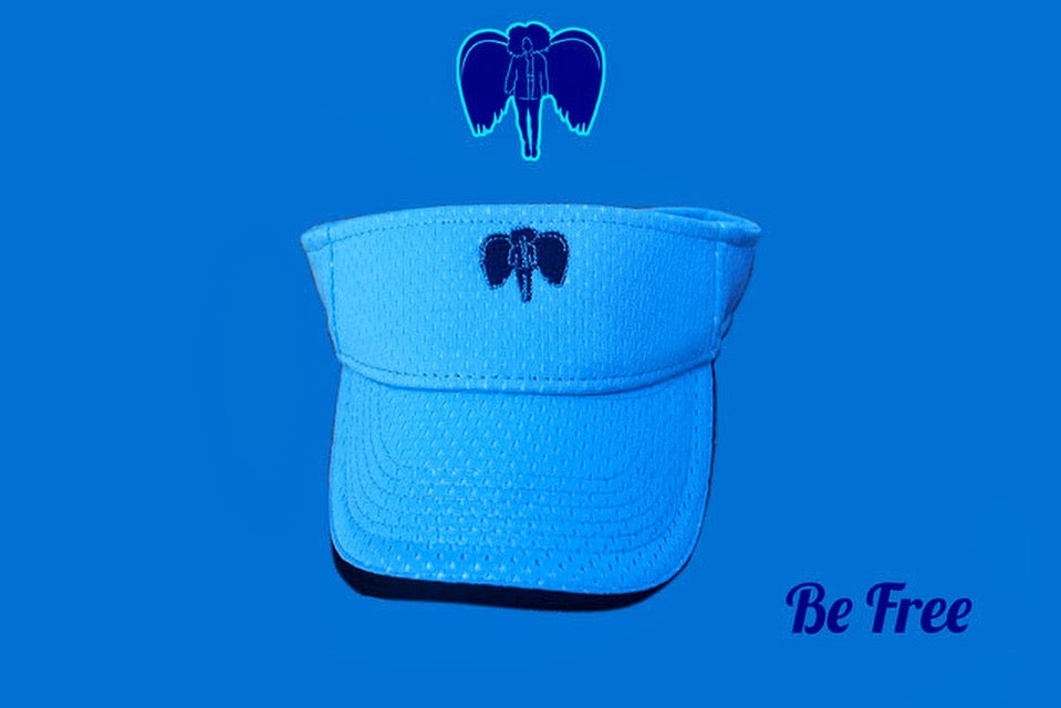 Image of Visionary Visor Columbia Blue~Navy Angel