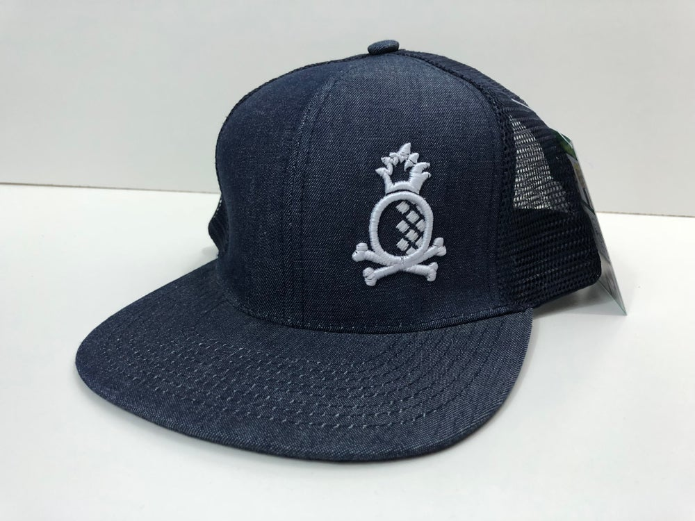 Image of Nave Blue Trucker with White Pineapple