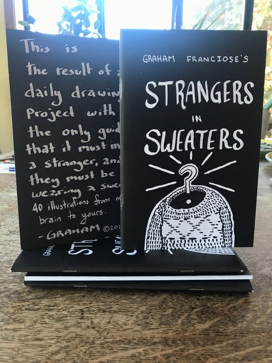 Image of Strangers in a Sweater zine with original drawing