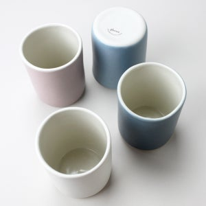 Image of set of four 10oz tumblers, orchid, pearl, sky, sea