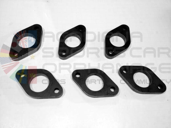 Image of Nissan SOHC VG DIY Steel Exhaust Manifold Flanges – 6 Piece Kit