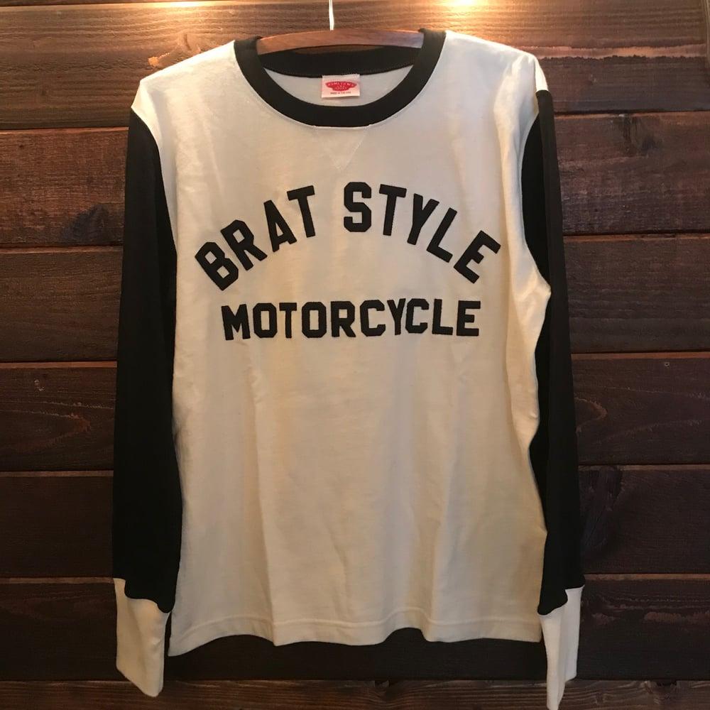 Image of BRATSTYLE MOTO JERSEY SET IN SLEEVE Cream×Black