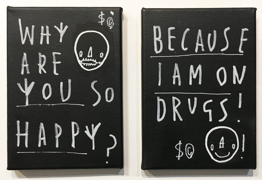 Image of  'Why Are You So Happy' By Skeleton Cardboard