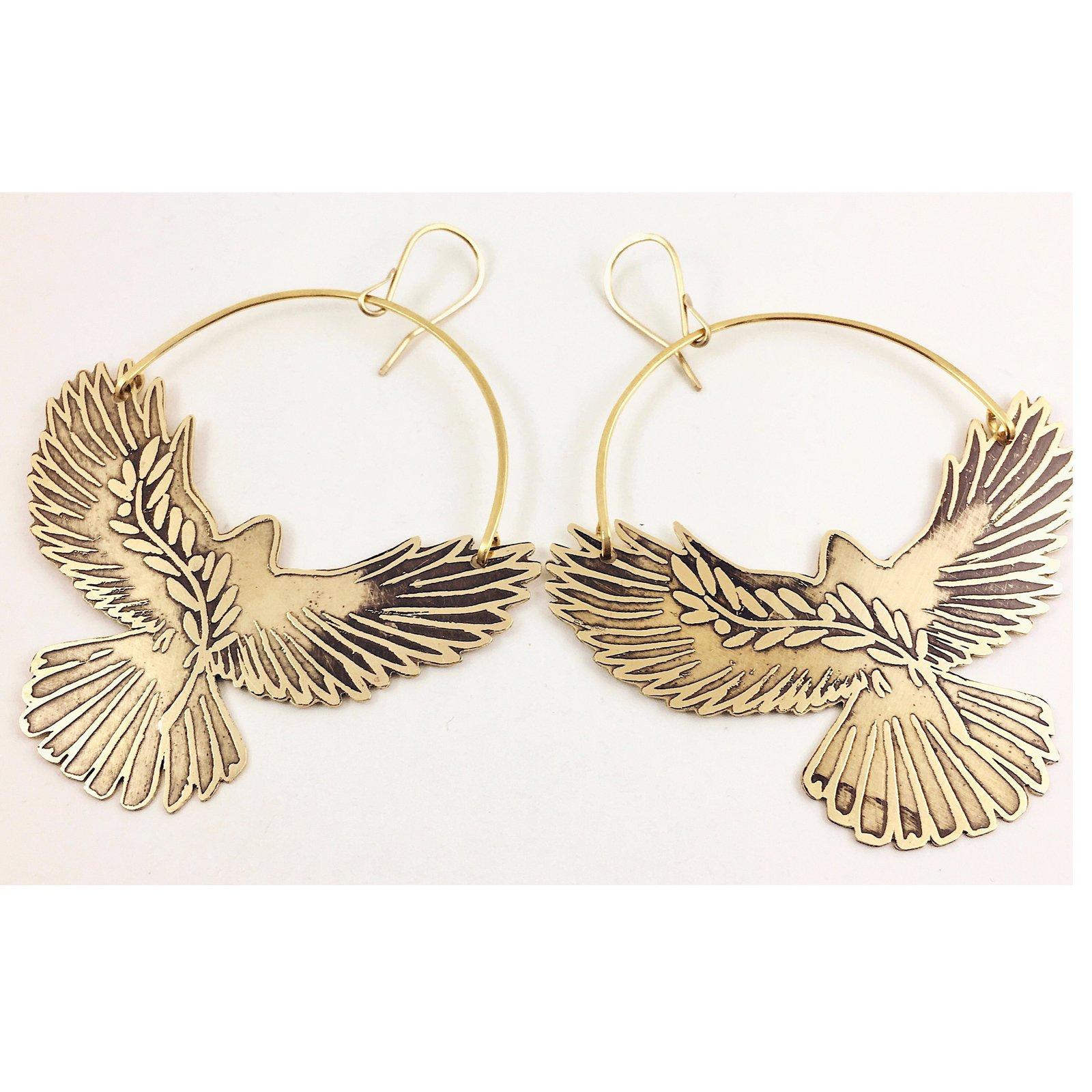 Image Of Peace Dove Earrings