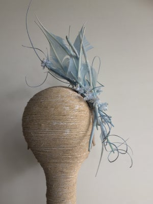 Image of Powder blue feather headpiece