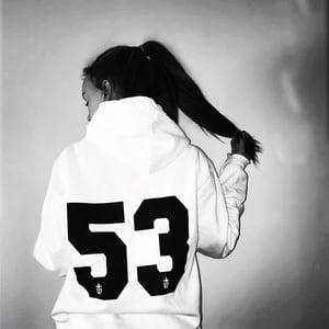 Image of CUSTOM NUMBER HOODIE • WHITE