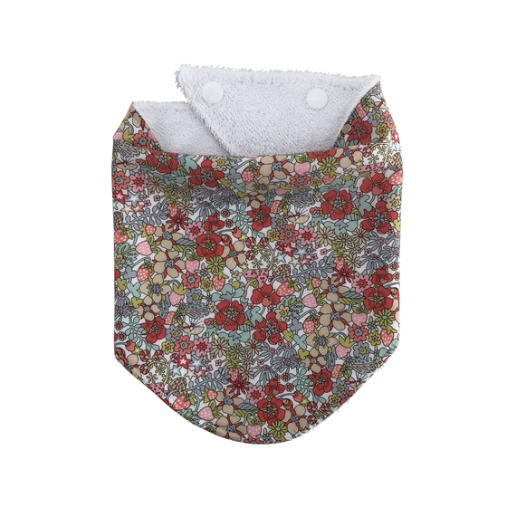 Image of liberty of london floral dribble bib