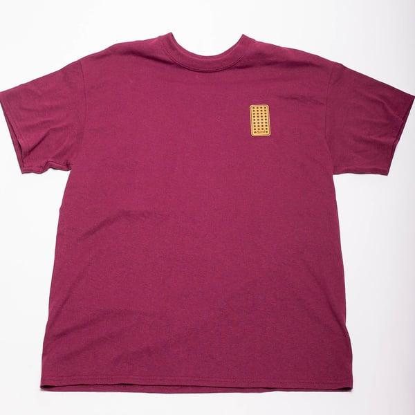 Image of Blocker Patch (Burgundy T-Shirt)