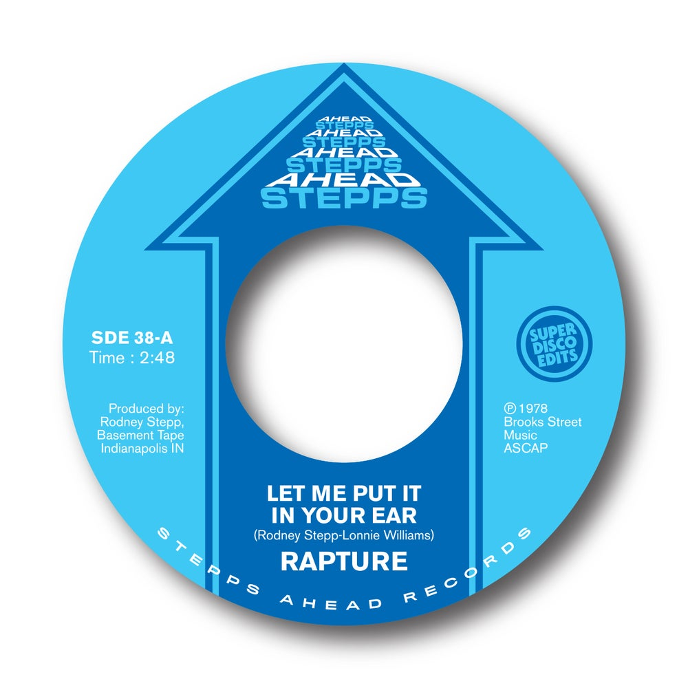 "Image of rapture ""let me put it in your ear""/in my life"" stepps ahead"