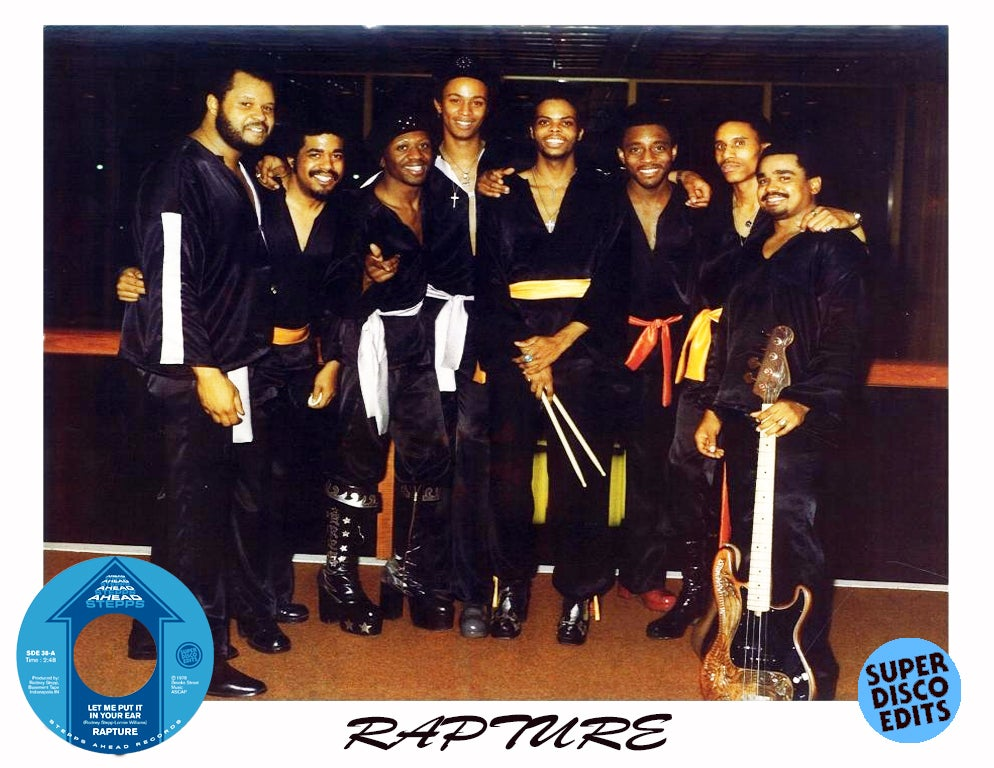 """rapture """"let me put it in your ear""""/in my life"""" stepps ahead"""