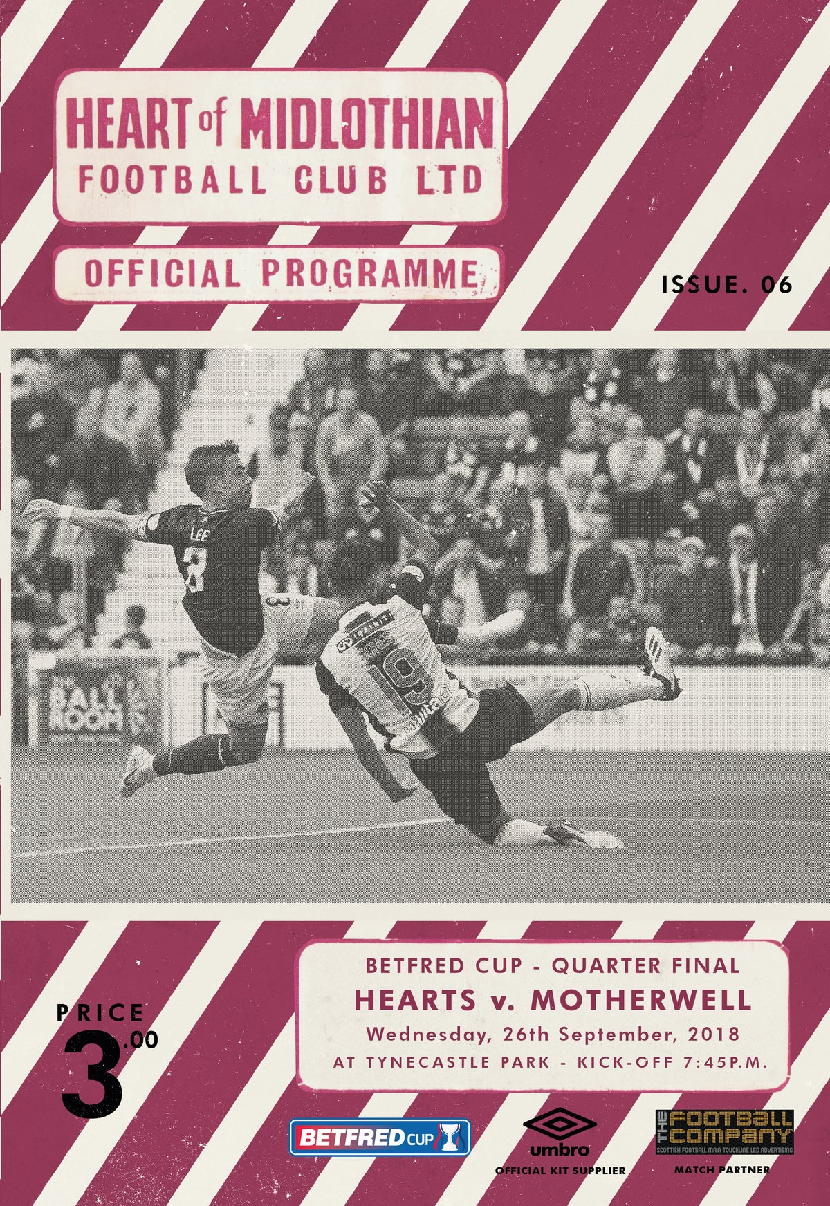 Image of Hearts v Motherwell, 26th September 2018