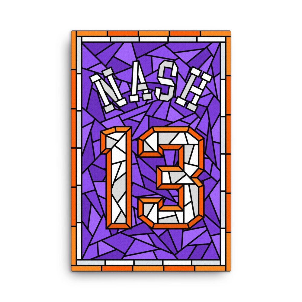 Image of Steve Nash Glory Days Stained Glass Jersey