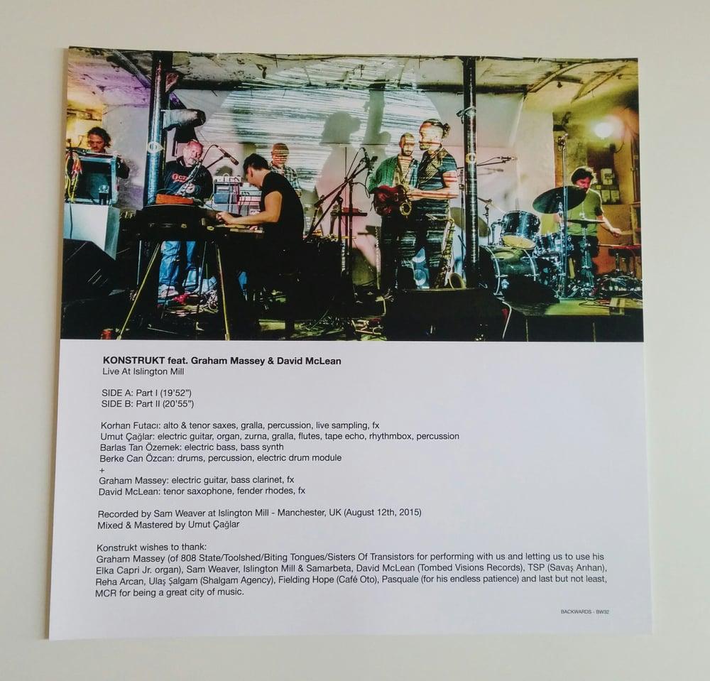 Image of KONSTRUKT - Live At Islington Mill (feat. GRAHAM MASSEY & DAVID McLEAN) LP [ltd.100 GREEN vinyl]