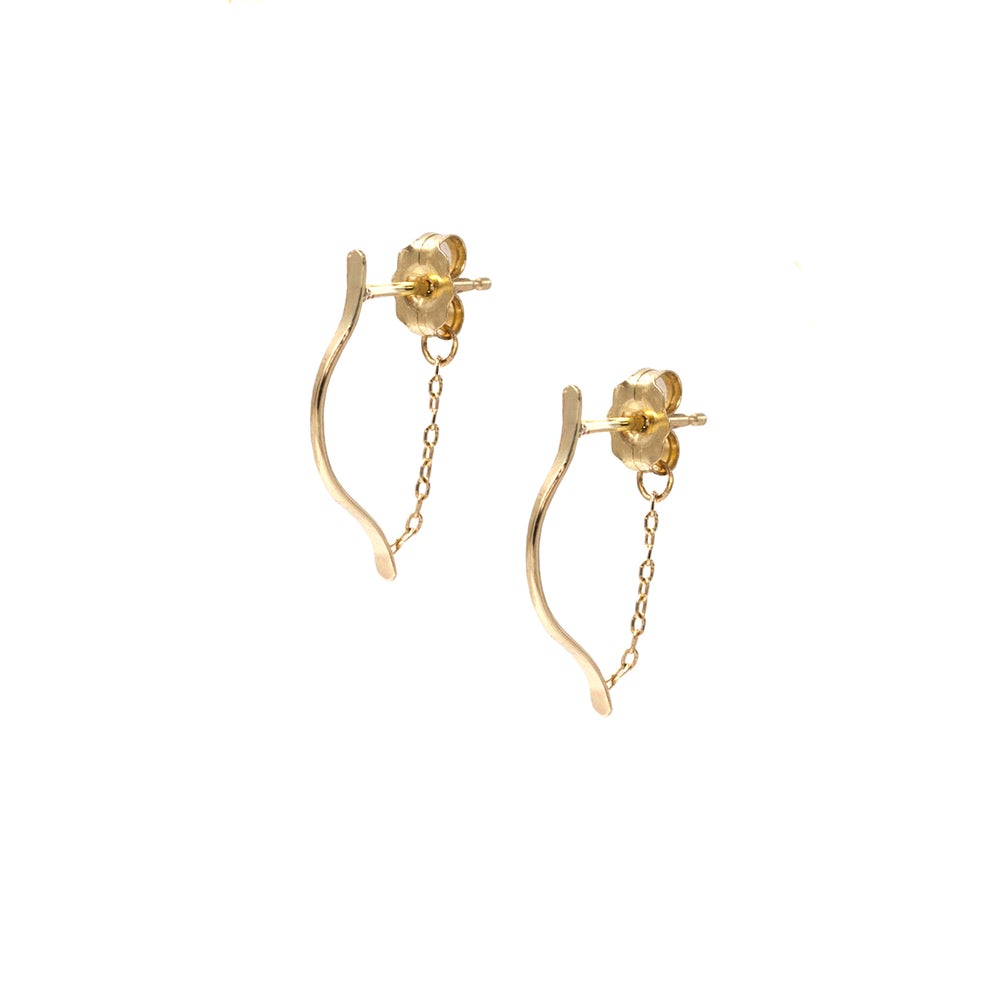 Image of SMALL ARTEMIS EARRINGS 14K