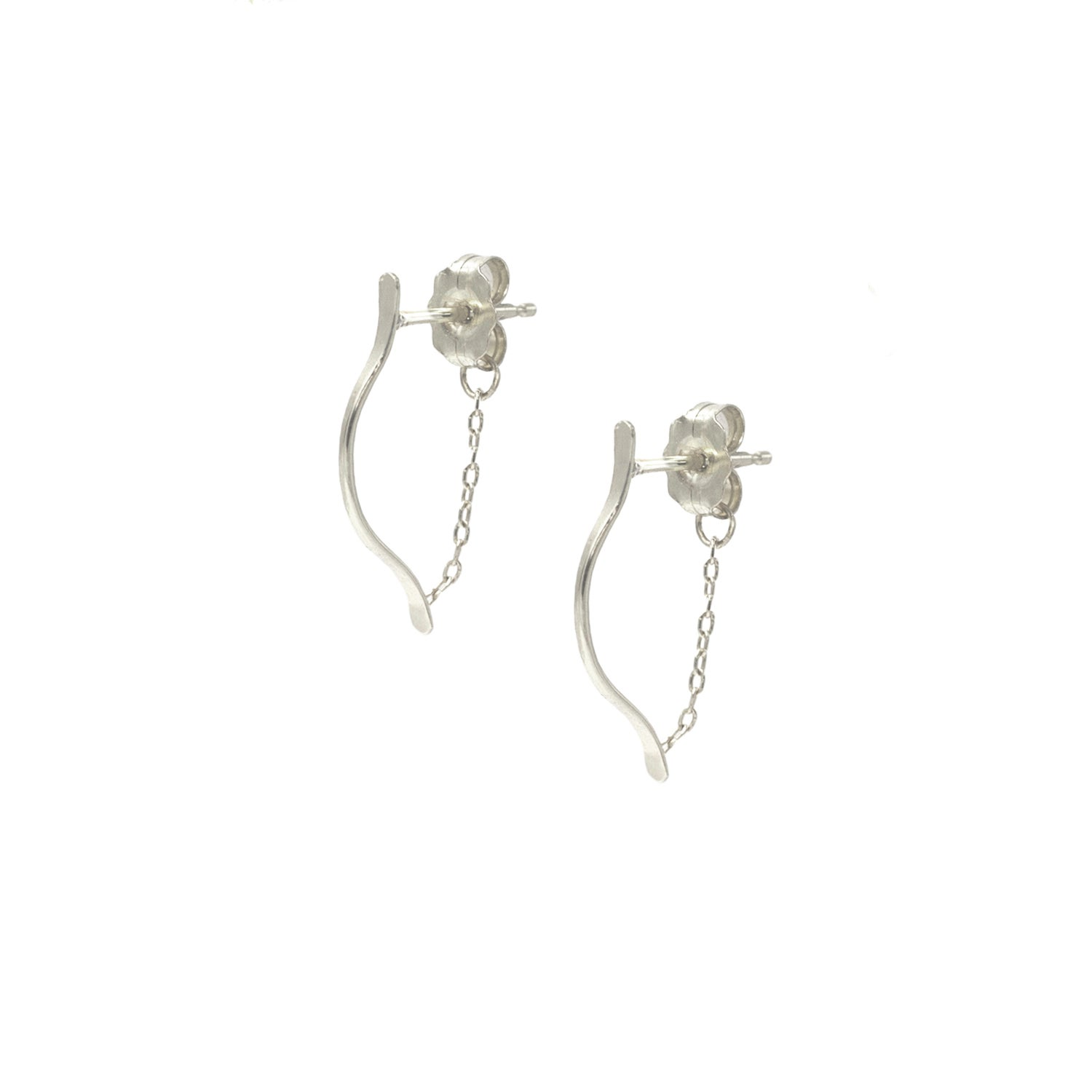 Image of SMALL ARTEMIS EARRINGS SILVER