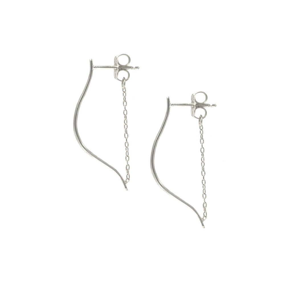 MEDIUM ARTEMIS EARRINGS SILVER
