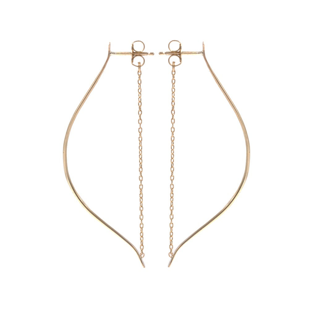 Image of LARGE ARTEMIS EARRINGS 14K