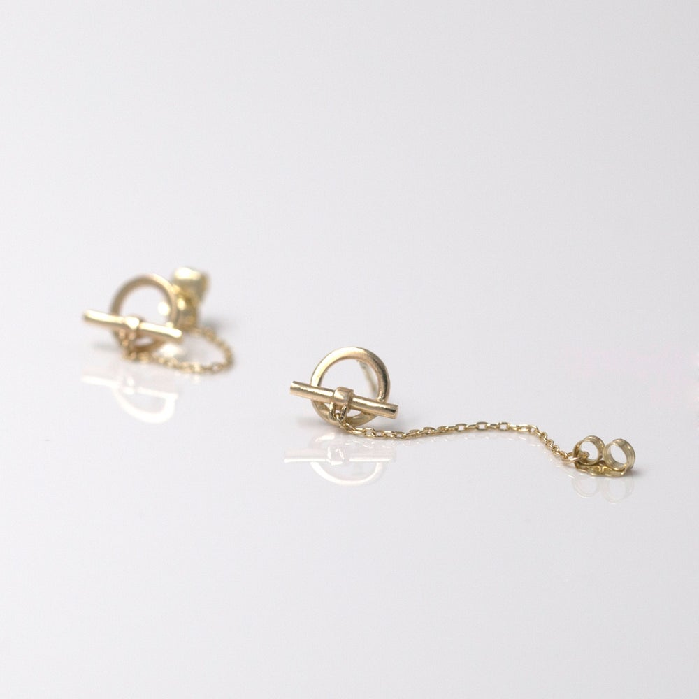 TOGGLE CHAIN EARRINGS SILVER
