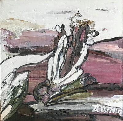 """Image of """"View"""" - Miniature maleri ( køb af alle 3 i serien total pris 749,- inkl moms)"""